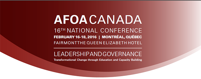 AFOA Canada 2016 Pre-Conference Workshops