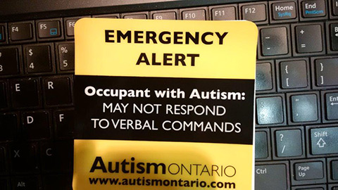 Alert - Occupant with autism