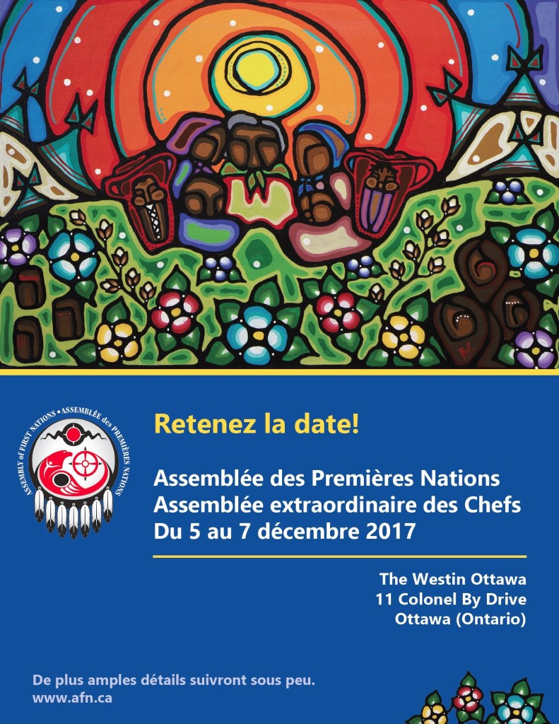 AFN Special Chiefs Assembly 2017 - Save the Date FR